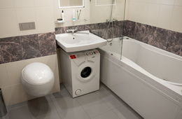 Установка узкой стиральной машины под раковиной Балашиха